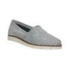 Strieborné kožené Slip-on topánky flexible, 536-1604 - 13