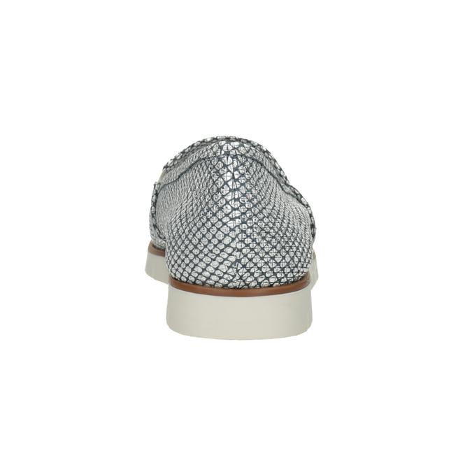 Strieborné kožené Slip-on topánky flexible, 536-1604 - 15