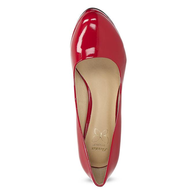 Červené lodičky z lakovanej kože insolia, červená, 728-5104 - 17