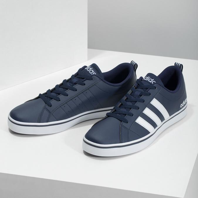 Pánske ležérne tenisky adidas, modrá, 801-9136 - 16