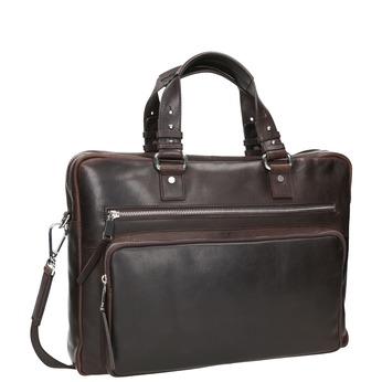 Pánska kožená taška na dokumenty bata, hnedá, 964-4287 - 13