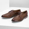 Hnedé kožené poltopánky s pruhovanou podošvou bata, hnedá, 826-4790 - 16