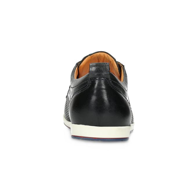Ležérne kožené poltopánky bata, čierna, modrá, 824-9124 - 15