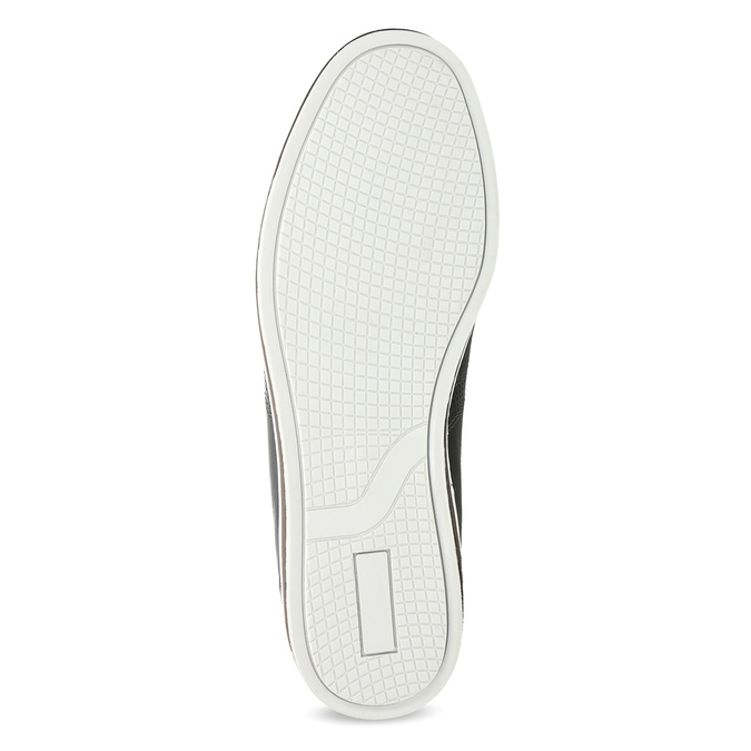 Pánske kožené tenisky bata, čierna, 846-6617 - 18