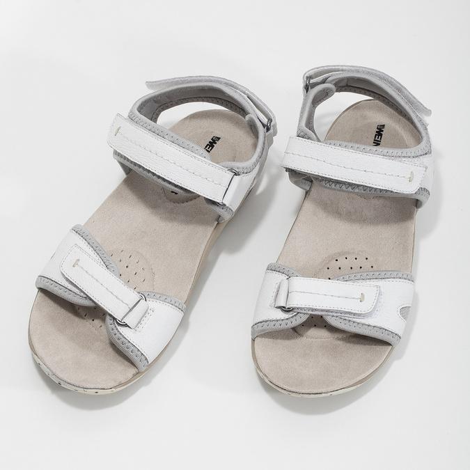 Kožené dámske sandále v Outdoor štýle weinbrenner, biela, 566-1608 - 16