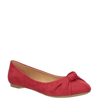 Červené baleríny s mašľou bata, červená, 529-5637 - 13
