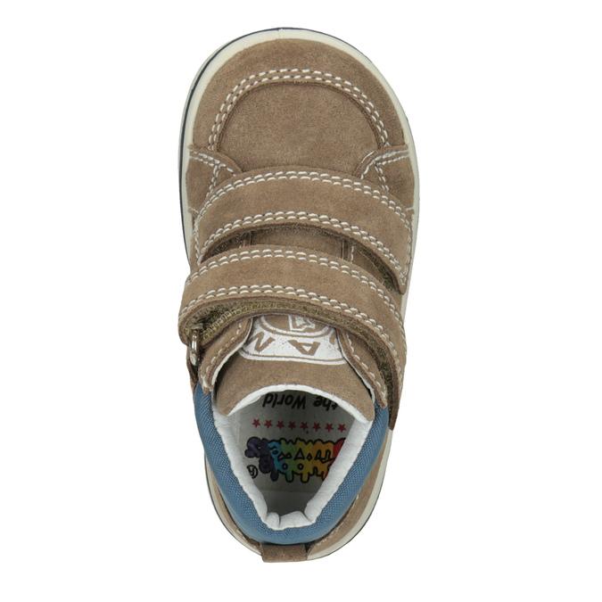Detská členková kožená obuv bubblegummers, hnedá, 113-4607 - 15