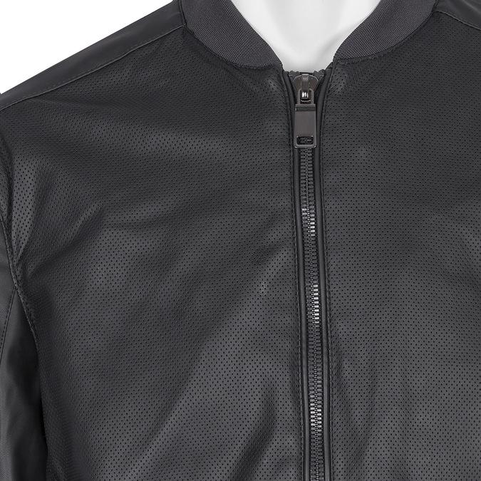 Pánska bunda s perforáciou bata, modrá, čierna, 971-9197 - 16