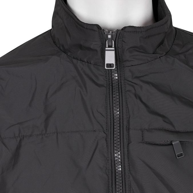 Pánska čierna textilná bunda bata, čierna, modrá, 979-9119 - 16