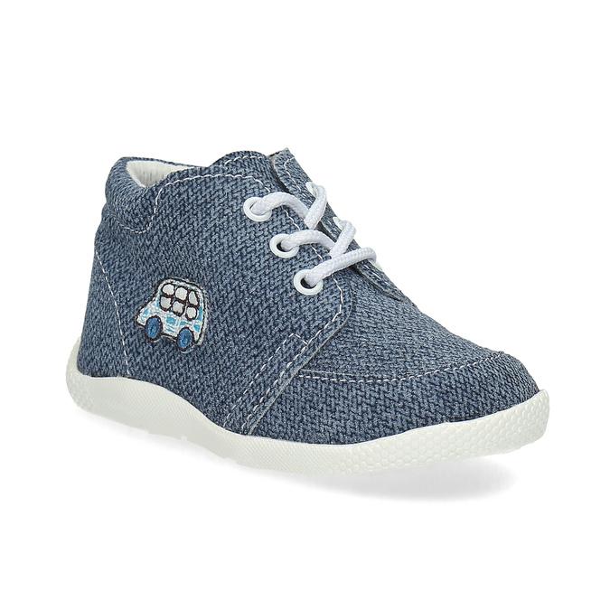 Detské členkové tenisky bata, modrá, 113-9609 - 13