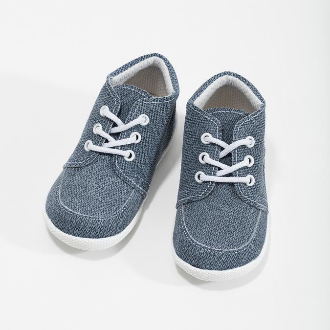 Detské členkové tenisky bata, modrá, 113-9609 - 16