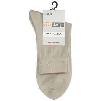 Vysoké dámske béžové ponožky matex, béžová, 919-8216 - 13