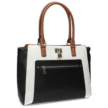 Dámska čierno-biela kabelka so zámkou bata-red-label, viacfarebné, 961-0862 - 13