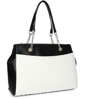 Čierno-biela kabelka s prešívaním bata-red-label, viacfarebné, 961-0863 - 13