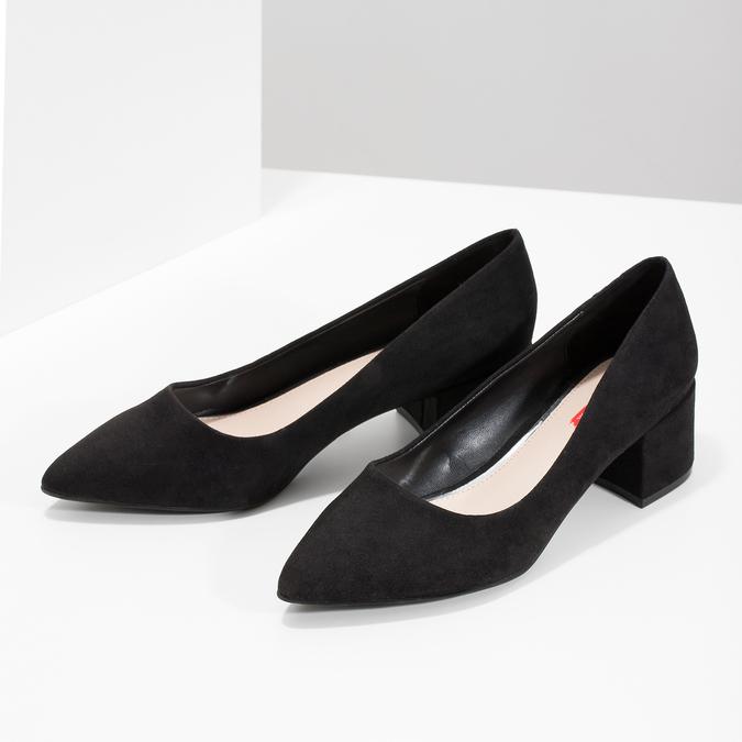 Čierne lodičky na nízkom podpätku bata-red-label, čierna, 629-6640 - 16