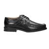 Pánske kožené poltopánky s prešitím na špici bata, čierna, 824-6625 - 26