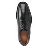 Pánske kožené poltopánky s prešitím na špici bata, čierna, 824-6625 - 15