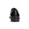 Pánske kožené poltopánky s prešitím na špici bata, čierna, 824-6625 - 16