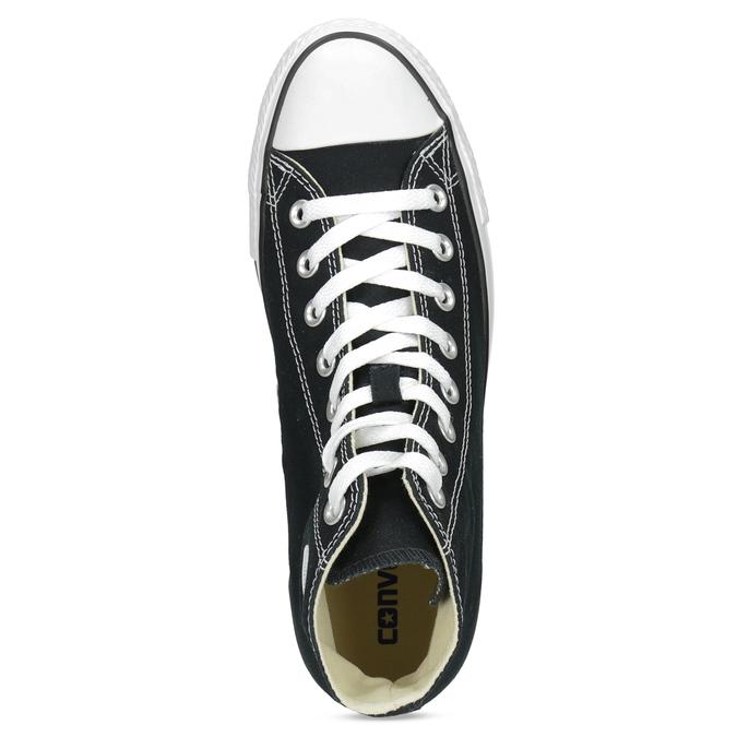 Dámske členkové tenisky s gumovou špičkou converse, čierna, 589-6278 - 17