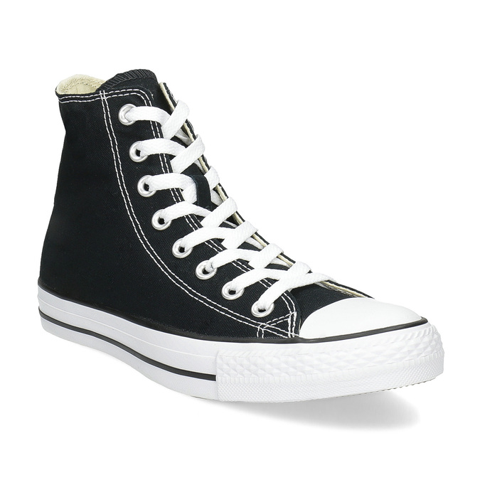 Dámske členkové tenisky s gumovou špičkou converse, čierna, 589-6278 - 13