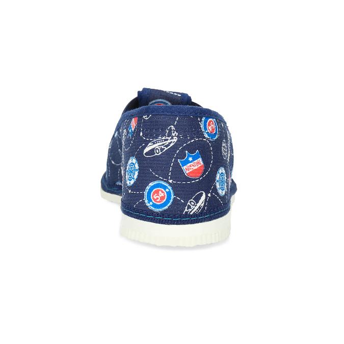 Modré detské prezuvky so vzorom bata, modrá, 379-9012 - 15