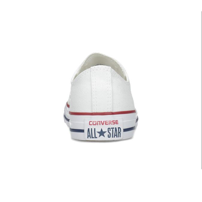 Dámske biele tenisky s gumovou špičkou converse, biela, 589-1279 - 15