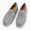 Pánske mokasíny z brúsenej kože bata, šedá, 853-2614 - 16