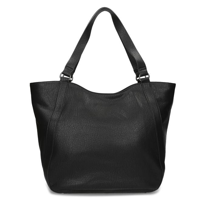 Čierna dámska kabelka s prešitím bata, čierna, 961-6787 - 16