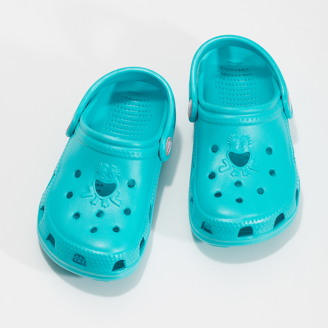 Tyrkysové detské sandále Clogs coqui, modrá, 372-9605 - 16