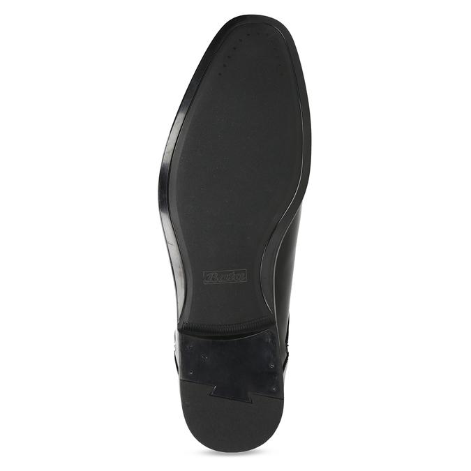 Kožené čierne pánske poltopánky bata, čierna, 824-6758 - 18