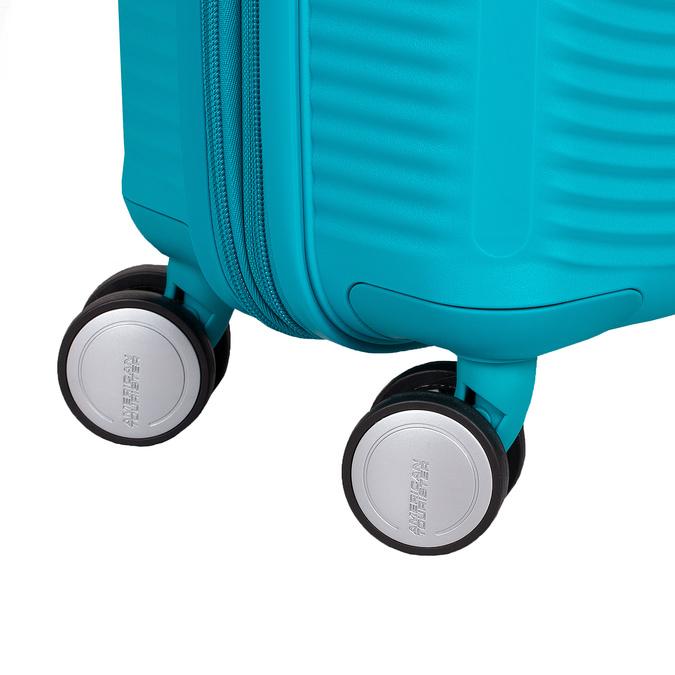 Tyrkysový škrupinový kufor american-tourister, modrá, 960-9615 - 16