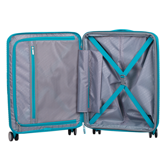 Tyrkysový škrupinový kufor american-tourister, modrá, 960-9615 - 17