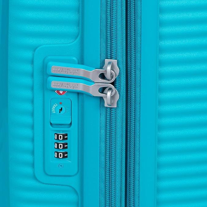 Tyrkysový škrupinový kufor american-tourister, modrá, 960-9615 - 15