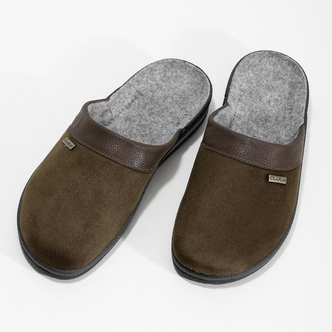 Pánska domáca obuv bata, hnedá, 879-4600 - 16