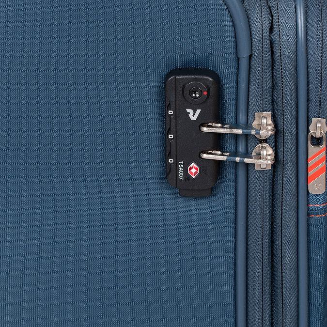 Palubný tyrkysový kufor na kolieskach roncato, modrá, 969-9723 - 15