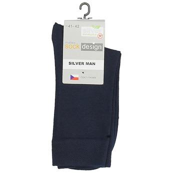 Vysoké pánske fialové ponožky matex, modrá, 919-9313 - 13