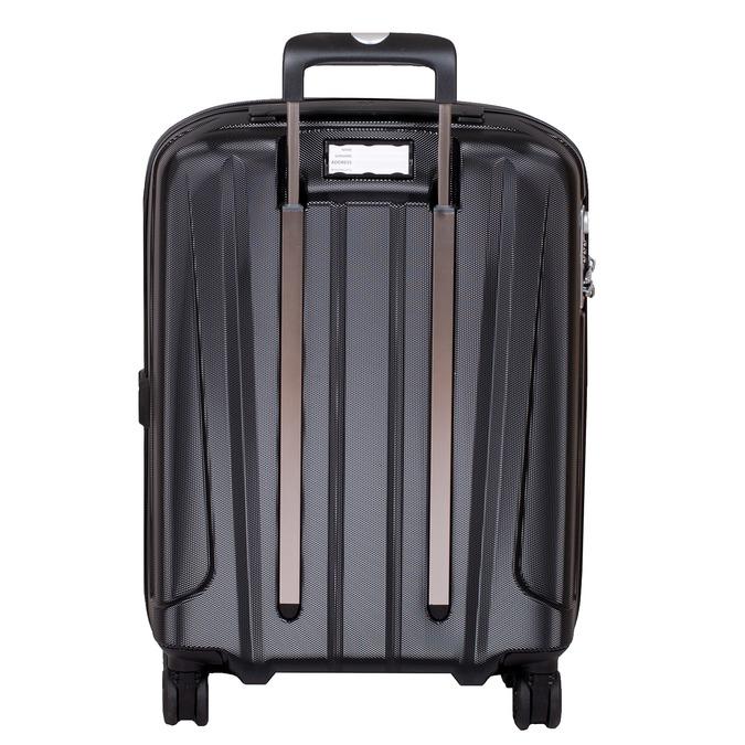 Malý pevný čierny kufor na kolieskach roncato, čierna, 960-6735 - 26
