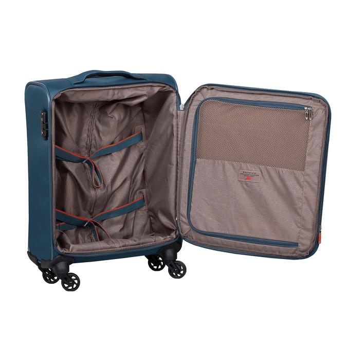 Palubný tyrkysový kufor na kolieskach roncato, modrá, 969-9723 - 17