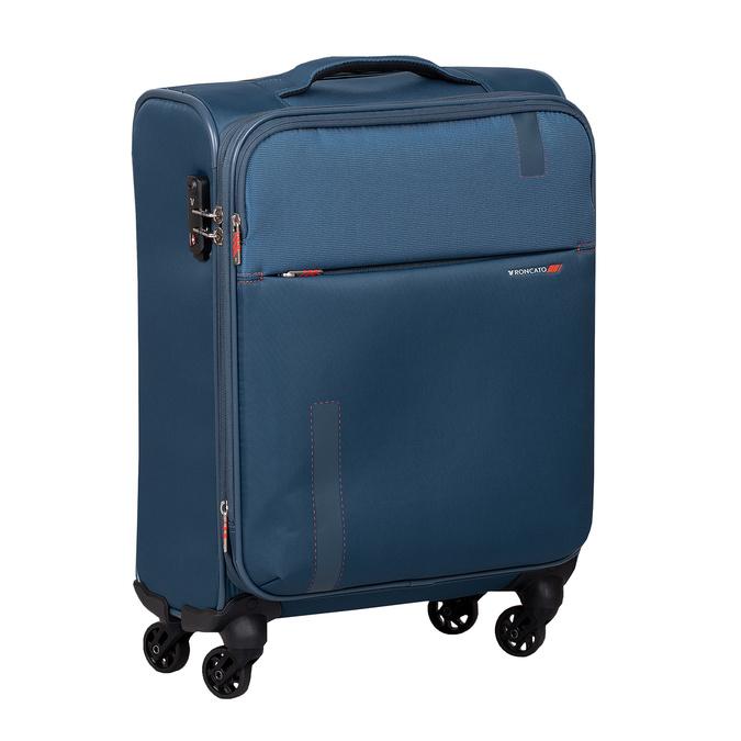 Palubný tyrkysový kufor na kolieskach roncato, modrá, 969-9723 - 13