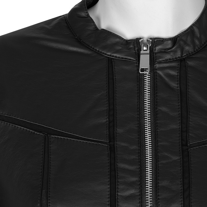 Čierna dámska bunda s vreckami bata, čierna, 971-6195 - 16
