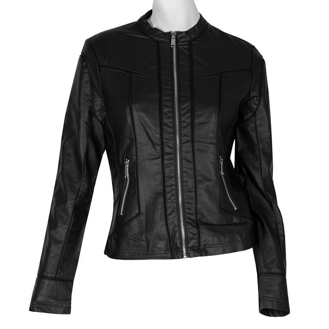 Čierna dámska bunda s vreckami bata, čierna, 971-6195 - 13