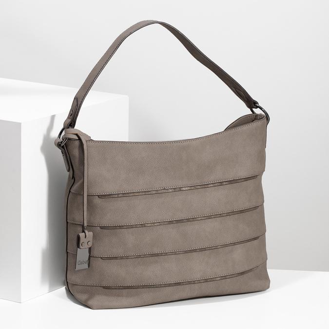 Béžová kabelka s metalickými detailami gabor-bags, béžová, 961-8001 - 17