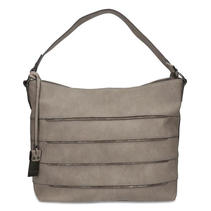 Béžová kabelka s metalickými detailami gabor-bags, béžová, 961-8001 - 26