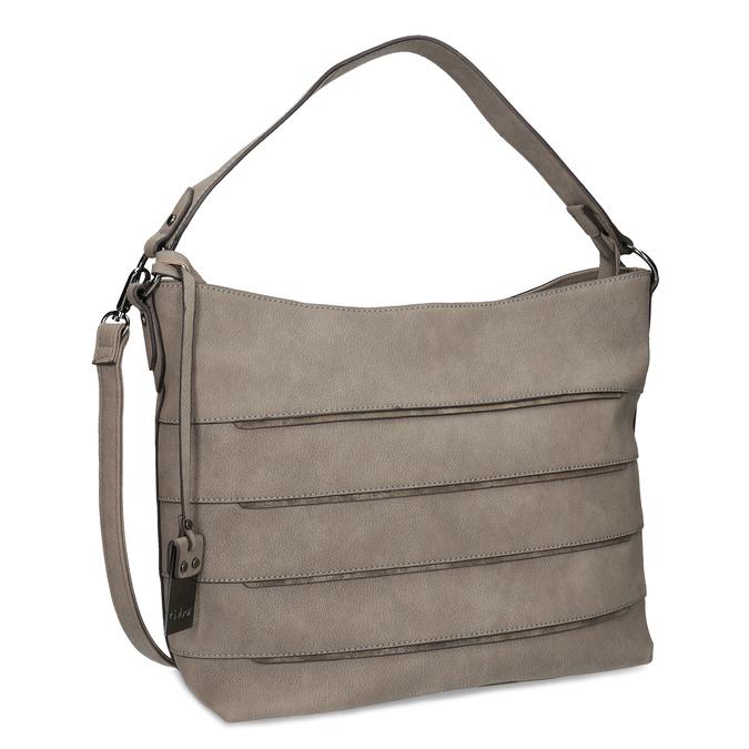 Béžová kabelka s metalickými detailami gabor-bags, béžová, 961-8001 - 13