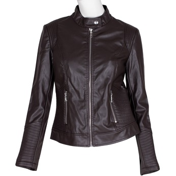 Hnedá dámska bunda s vreckami bata, hnedá, 971-4223 - 13
