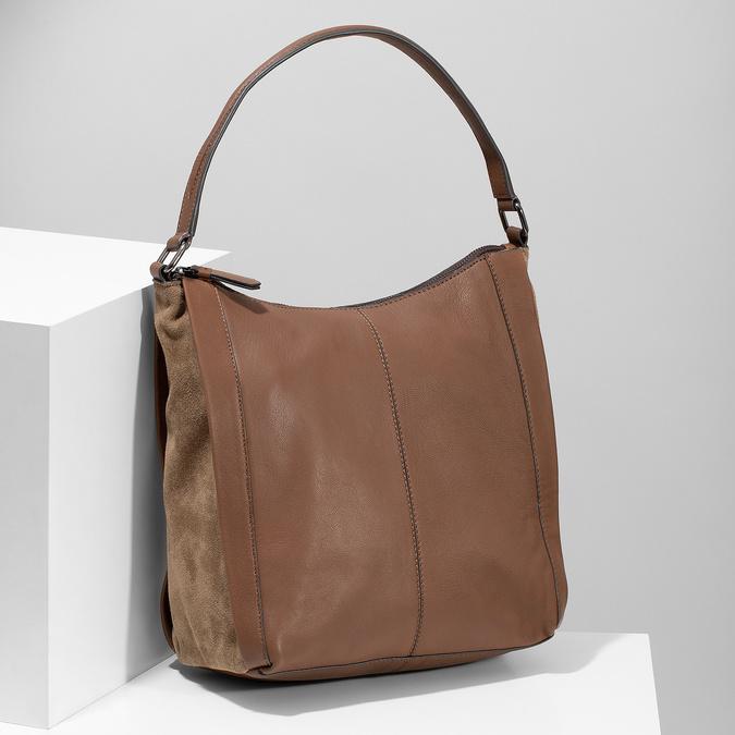 Hnedá kožená kabelka bata, hnedá, 964-3254 - 17